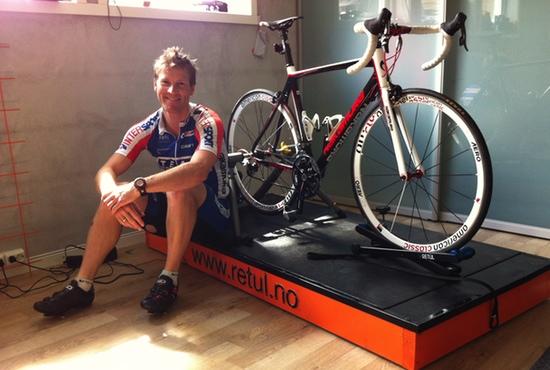 Jens Arne Svartedal klar for sin første Retul sykkeltilpasning