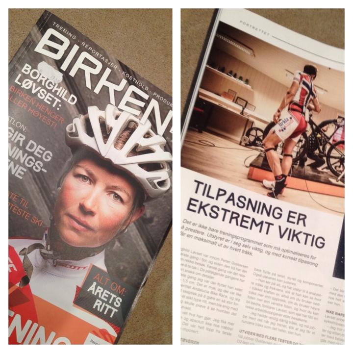 Borghild Løvset på forsiden av Birken magasinet.