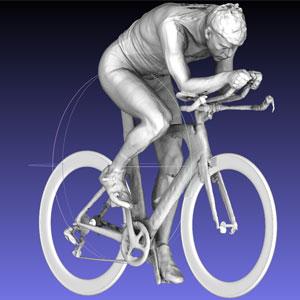 Triatlon 3D Modell