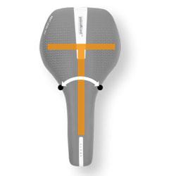 Bilde som viser T-Shape form på et sykkelsete.