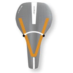 Bilde som viser en V-Shape form på et sykkelsete.